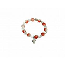 Bransoletka Różaniec kryształ - czerwona