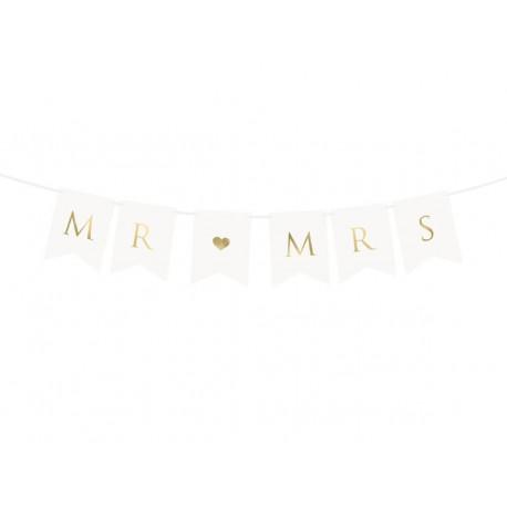 Baner ślubny Mr & Mrs