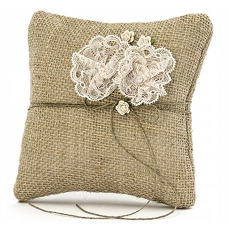 Poduszka pod obrączki - rustykalna