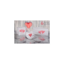 Lampion z sercami - wzory