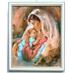 Obraz Matka Boska z Dzieciątkiem 18 x 13cm