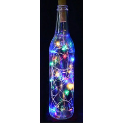 Korek do Butelki z LED 8 Lampek - Multi