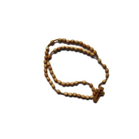 Różaniec drewniany na sznurku