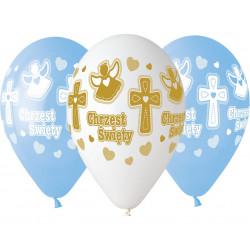 Balony na chrzest  chłopca