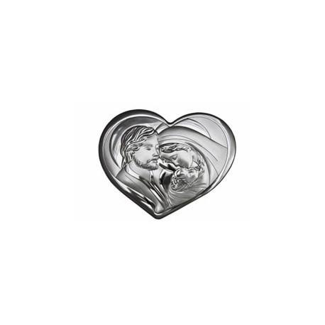 Obraz srebrny serce – Święta Rodzina