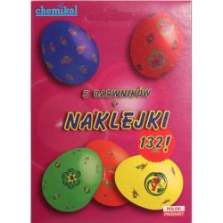 Barwniki do Jaj - 5 Kolorów + Naklejki