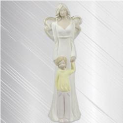 Anioł Łucja z Chłopcem 31cm