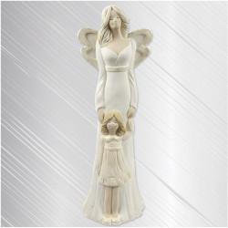 Anioł Łucja z Dziewczynką 31cm